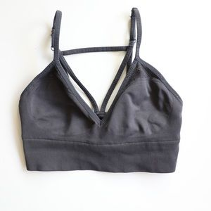 VS Pink Charcoal Grey Cage bralette